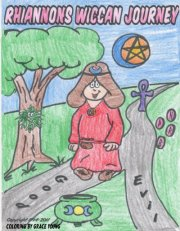 Cover of Rhiannon's Wiccan Journey Coloring Book