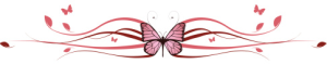 butterfly and swirls divider