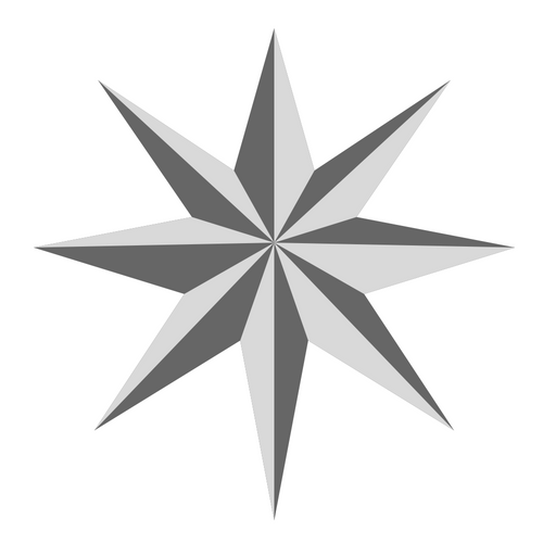8-pointed silver star